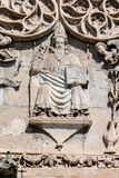 Palermo Cathedral& x27;s portico carving Royalty Free Stock Photography