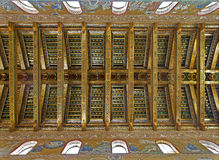 Palermo - Ceiling of main nave in Monreale cathedral. stock photo