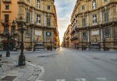 Palermo City in Sicily, Italy Stock Photos