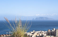 Palermo, ciudad en la costa Imagenes de archivo