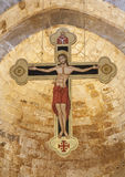 Palermo - Cross from main nave of Romanic church San Cataldo Royalty Free Stock Images