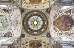 Palermo - Cupola and ceiling of church La chiesa del Gesu Royalty Free Stock Photo