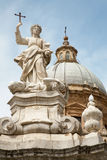Palermo - cupola della cattedrale o duomo e Santa Rosalia Fotografie Stock Libere da Diritti