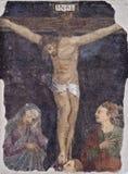 Grafittis nos Dungeon da inquisição em Palermo Fotografia de Stock