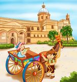 Palermo, de kathedraal stock illustratie