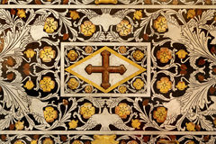 Palermo - Detail of baroque mosaic from side altar in Monreale cathedral royalty free stock photo