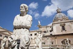 Palermo - Detail from Florentine fountain Stock Photos