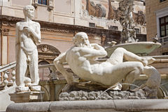 Palermo - Detail from Florentine fountain Stock Photography