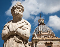 Palermo - Detail from Florentine fountain on Piazza Pretoria Stock Photography