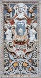 Palermo - Detail from mosaic decoration in church La chiesa del Gesu Stock Photo