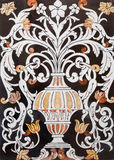 Palermo - Detail from mosaic decoration in church La chiesa del Gesu Royalty Free Stock Photos