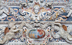 Palermo - dettaglio da sollievo barrocco dall'altare laterale di St Joseph in chiesa San Domenico Immagini Stock