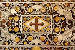 Palermo - dettaglio del mosaico barrocco dall'altare laterale nella cattedrale di Monreale Fotografia Stock Libera da Diritti