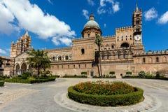Palermo domkyrka i Palermo, Sicilien Arkivbilder