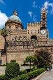 Palermo domkyrka i Palermo, Sicilien Arkivfoto