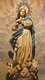 Palermo - estatua de la Inmaculada Concepción Foto de archivo