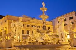 Palermo - Florentine founiain on Piazza Pretoria Royalty Free Stock Photos