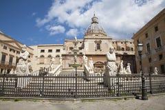 Palermo - Florentine fountain - Piazza Pretoria Royalty Free Stock Photo