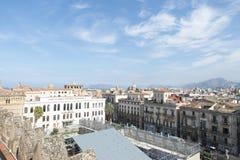 Palermo flyg- sikt Fotografering för Bildbyråer