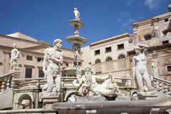 Palermo -  fountain on Piazza Pretoria Stock Images