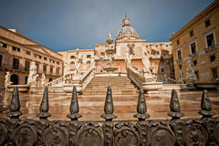 Palermo fountain of shame. Fountain of shame found in the Palermo Royalty Free Stock Photo