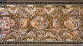 Palermo - Fresco from ceiling in baroque church of San Giuseppe dei Teatini Royalty Free Stock Images