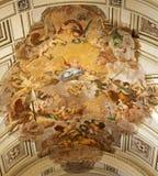 Palermo - fresk l'Assunzione Di Maria Vergine - wniebowzięcie Mary dziewica Mariano Rossi 1802 od katedry lub Duomo Zdjęcia Royalty Free