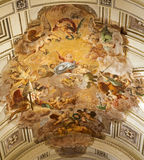 Palermo - freskomålning av l'Assunzionedi Maria Vergine - antagande av Mary Virgin av Mariano Rossi 1802 från domkyrka eller Duom Royaltyfria Foton