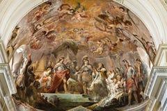 Palermo - freskomålning från huvudsaklig absid av domkyrkan eller duomoen Royaltyfria Foton