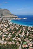 Palermo - golfo de Mondello Imagenes de archivo