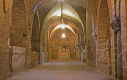Palermo - gravvalvkapell under domkyrka Arkivfoton