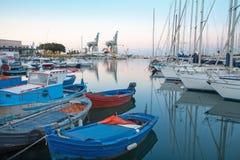 Palermo - Hafen in der Dämmerung Lizenzfreie Stockbilder