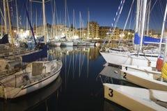 Palermo - Harbor in dusk Stock Image