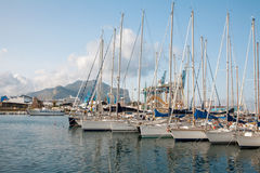 Palermo - Harbor in evening Stock Image