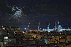 Palermo Harbor at Night Royalty Free Stock Image