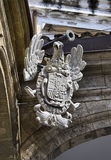 Palermo heraldry. Town emblem at the Government Building seat of the regional parliament of Sicily, Norman Royal Palace, Palermo, Italy stock images