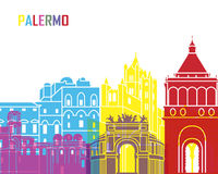 Palermo horisontpop stock illustrationer