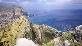 Palermo i Mondello krajobraz Zdjęcia Royalty Free