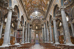 Palermo - Interior from baroque church of San Giuseppe dei Teatini Stock Photography