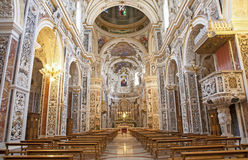 Palermo - Interior of church La chiesa del Gesu Royalty Free Stock Image