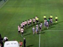 PALERMO, ITÁLIA - 11 de agosto de 2013 - di Palermo dos E.U. Citta contra E.U. Cremonese - COPO de TIM Imagens de Stock