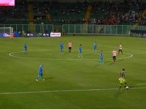 PALERMO, ITÁLIA - 31 de agosto de 2013 - di Palermo dos E.U. Citta contra Empoli FC - Serie B Fotografia de Stock Royalty Free