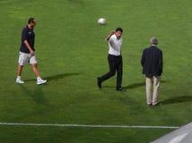 PALERMO, ITÁLIA - 31 de agosto de 2013 - di Palermo dos E.U. Citta contra Empoli FC - Serie B Imagens de Stock Royalty Free