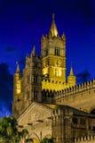 PALERMO, ITALIË - Oktober 13, 2009: de kathedraalkerk van R Stock Fotografie