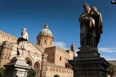 PALERMO, ITALIË - Oktober 14, 2009: de kathedraalkerk van R Royalty-vrije Stock Afbeelding