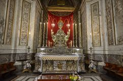 Palermo, Italië, Sicilië 24 Augustus 2015 De kathedraal van Palermo Royalty-vrije Stock Foto's
