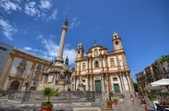 Palermo, Italië, Sicilië 24 Augustus 2015 De kerk van San Domenico Stock Foto's