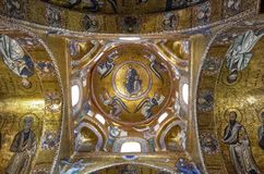 Palermo, Italië, Sicilië 24 Augustus 2015 De mooie Kerk van Martorana Stock Fotografie