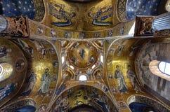 Palermo, Italië, Sicilië 24 Augustus 2015 De mooie Kerk van Martorana Stock Afbeeldingen