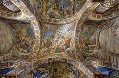 Palermo, Italië, Sicilië 24 Augustus 2015 De mooie Kerk van Martorana, in het historische centrum Stock Foto